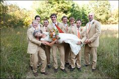 I want my groom's best men to take a picture like this :P