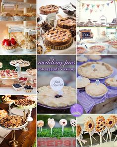Happy pie day (3.14) with these fab #wedding #pies!!! Wedding Pies for Dessert and Favors on Brenda's Wedding Blog