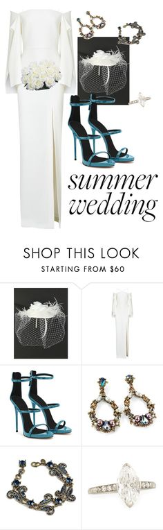 """""""Something Blue 💍"""" by beverlyclm ❤ liked on Polyvore featuring Roland Mouret, Giuseppe Zanotti and Sweet Romance"""
