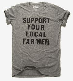 Support Your Local Farmer Hand-Lettered T-Shirt | Share your support for your local farmers with this soft vinta... | T-Shirts