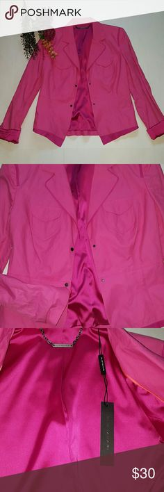 Elie Tahari jacket *New* Pink jacket,nice detailing,no trades reasonable offers only thanks Elie Tahari Jackets & Coats Blazers