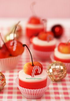 Panna Cotta Rainier Cherry Cups by theresahelmer on DeviantArt