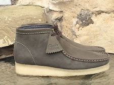 Clarks Originals Wallabees Boots Uk 6.5 Trek Natalie Dark Green Leather Desert