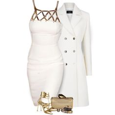 """White and Gold"" by f180289 on Polyvore"