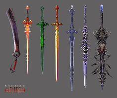 Resultado de imagen para armas de videojuegos anime
