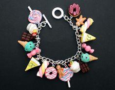 Loaded Sweets & Desserts Charm Bracelet - Kawaii