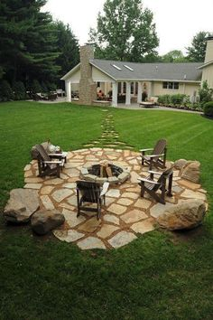 """Outstanding """"outdoor fire pit designs"""" detail is offered on our website. Read more and you wont be sorry you did. hanglage bach 19 Impressive Outdoor Fire Pit Design Ideas For More Attractive Backyard Patio Pergola, Flagstone Patio, Backyard Patio Designs, Outdoor Landscaping, Landscaping Ideas, Patio Ideas, Backyard Ideas, Pergola Kits, Firepit Ideas"""