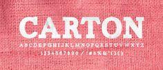 Carton, typeface.