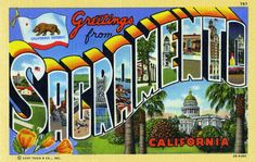 Greetings from Sacramento, California - Large Letter Postcard ...