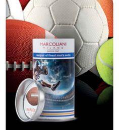 Marcoliani Men's Pima Cotton American Football Gift Knee High Socks |Italian Socks