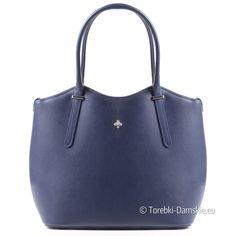625c66186a9f9 Ciemnoniebieska włoska skórzana torba o pięknych kształtach