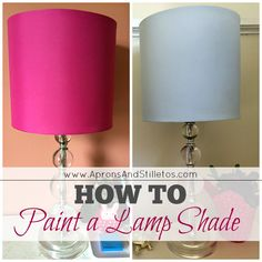 How to Paint a Lamp Shade http://www.apronsandstilletos.com/2015/04/how-to-paint-lamp-shade.html