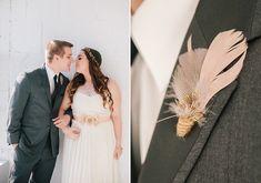 Elizabeth Dye wedding dress | Photo by Sylvia Photography | Read more - http://www.100layercake.com/blog/?p=68388