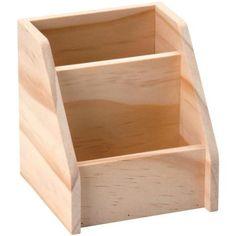 Portalápices de madera 2 compartimentos 11 cm - Fotografía n°1