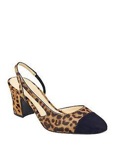 4a457caf332e Ivanka Trump - Liahly Leopard Print Goat Fur Slingback Pumps