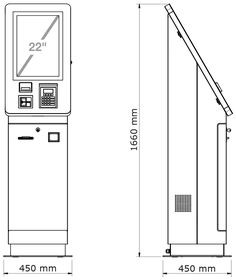 Self Service Payment Terminal YAMA mit Displaydiagonale Kiosk Design, Booth Design, Sign Design, Digital Kiosk, Digital Signage, E Kiosk, Mobile Charging Station, Atm Services, Exhibition Stall Design