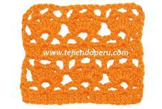 Punto fantasía con flores de piñas a crochet