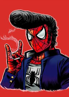 Greaser Spider-Man: A Rebel Without a Cause...