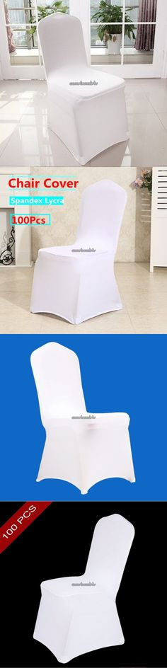 Other Wedding Supplies 3268: 100 White Spandex Lycra Chair Cover Stretch Wedding Party Banquet Event Decor -> BUY IT NOW ONLY: $188.67 on eBay!