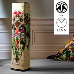 The Linn Timorous Beasties Collection are a special range of ten different customizable textile designs for the floor speakers in Linn's 5 Series Systems.