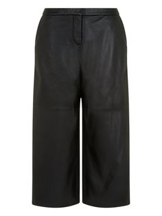 Riley Black Leather Culottes #Muubaa #AW15