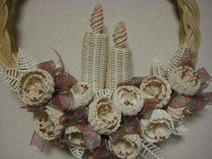 可愛い籐の花でクリスマスリース | I like...: