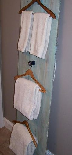 wooden hanger towel holders