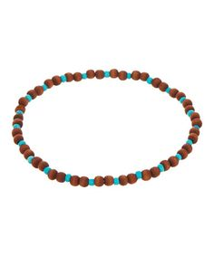 This Silvertone & Turquoise Bead Anklet Set is perfect! #zulilyfinds