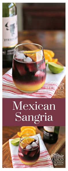 How to make Mexican Sangria │Sangria is one of the few drinks I remember my father preparing at home. He would make it only on Christmas Eve or New Years' Eve, and he made the Natural Sangria using grenadine syrup instead of white syrup. #mexicanfood #mexicancuisine #driks #mexicanrecipes
