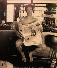 Benedict Cumberbatch. What I would give to rip that newspaper away <3