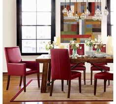 Red Leather Dining Room Chairs  Leather Dining Chairs  Pinterest New Dining Room Chairs Red Design Inspiration