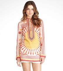 love the print on this Tory tunic