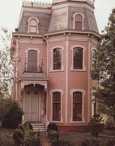 I love the color of this gorgeous old Victorian