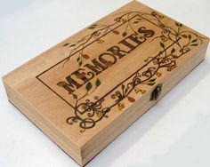 Pyrography memories keepsake box