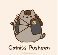 Katniss pusheen Katniss Everdeen, Crazy Cat Lady, Crazy Cats, Pusheen Love, Pusheen Stuff, Pusheen Gif, Pusheen Unicorn, Chat Kawaii, Animal Gato