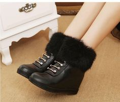 New women's shoes flat boots women's wedges ankle boots women's snow boots Wedge Ankle Boots, Snow Boots Women, Fur Boots, Designer Boots, New Woman, Winter Boots, Women's Wedges, Winter Fashion, Elegant