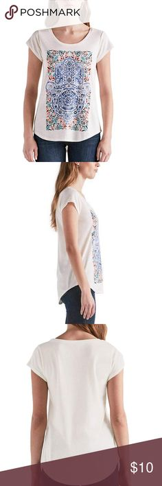 6fe68a46011309 Lucky Brand Ladies' Graphic Tee White Features: Crew neck Lightweight Short  sleeve Made in Guatemala Content: Polyester