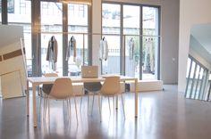 #ILtavolo #table and #Mammamia #chairs Costume National #showroom in #Milan Via Tortona 31