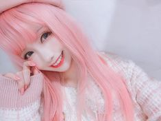 Aesthetic Indie, Pink Aesthetic, Asian Woman, Asian Girl, Girl With Pink Hair, Girl Photos, Foto E Video, Hair Color, Female
