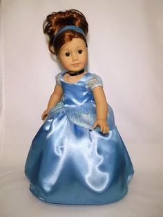 """Cinderella Dress for American Girl And 18""""Dolls."""