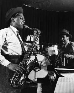 Photos of Duke Ellington, Billie Holiday, Dizzy Gillespie and other jazz legends playing at photographer Gjon Mili's studio in the New Orleans Brass Band, Roy Eldridge, Gjon Mili, Francis Wolff, Saint Motel, Music Down, Lou Williams, Dizzy Gillespie, Classic Jazz