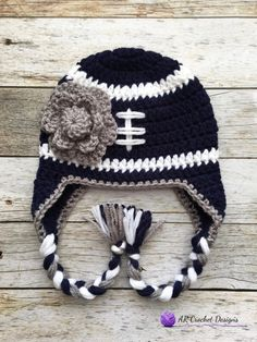 992b8b8a944 Items similar to Crochet Football Hat   Dallas Football Hat   Baby Crochet  Hat   Crochet Baby Winter Hat   Made to Order on Etsy