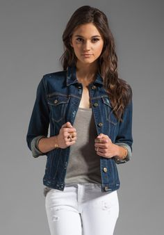 """Denim Jacket by 7 For All Mankind """"In style or not, I will always love a  good jean jacket!"""""""