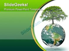 Green Earth Energy Globe PowerPoint Template 0810 #PowerPoint #Templates #Themes #Background