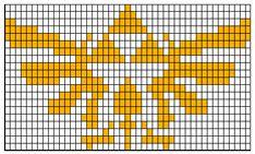 WoollyRhinoCrafts: Hylian Royal Crest FREE Colorwork Chart, Legend of Zelda chart for crochet, knitting, cross-stitch