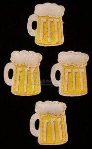 Broches fieltro - Jarra cerveza