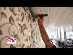Decoração: colagem de tecidos na parede - YouTube
