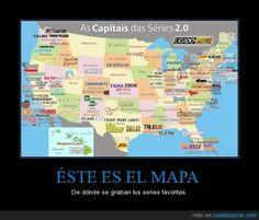 ÉSTE ES EL MAPA - De dónde se graban tus series favoritas