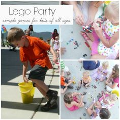 Simple Lego Party Games. 3 games easy to set up and play!