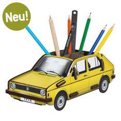 Werkhaus Shop - Stiftebox VW Golf 1 - gelb